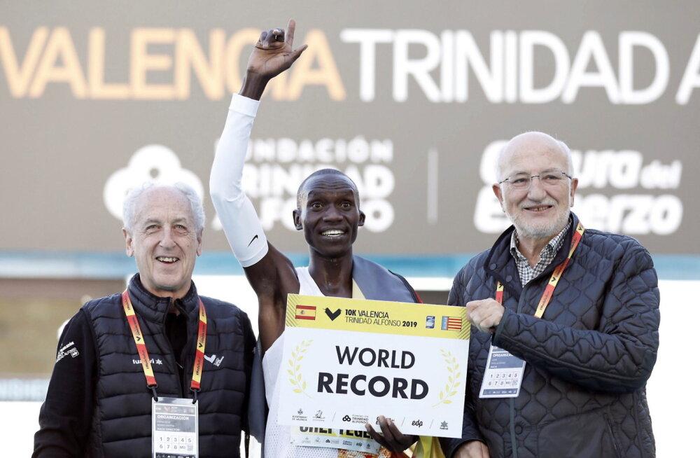 Uganda jooksja purustas 10 kilomeetri maailmarekordi