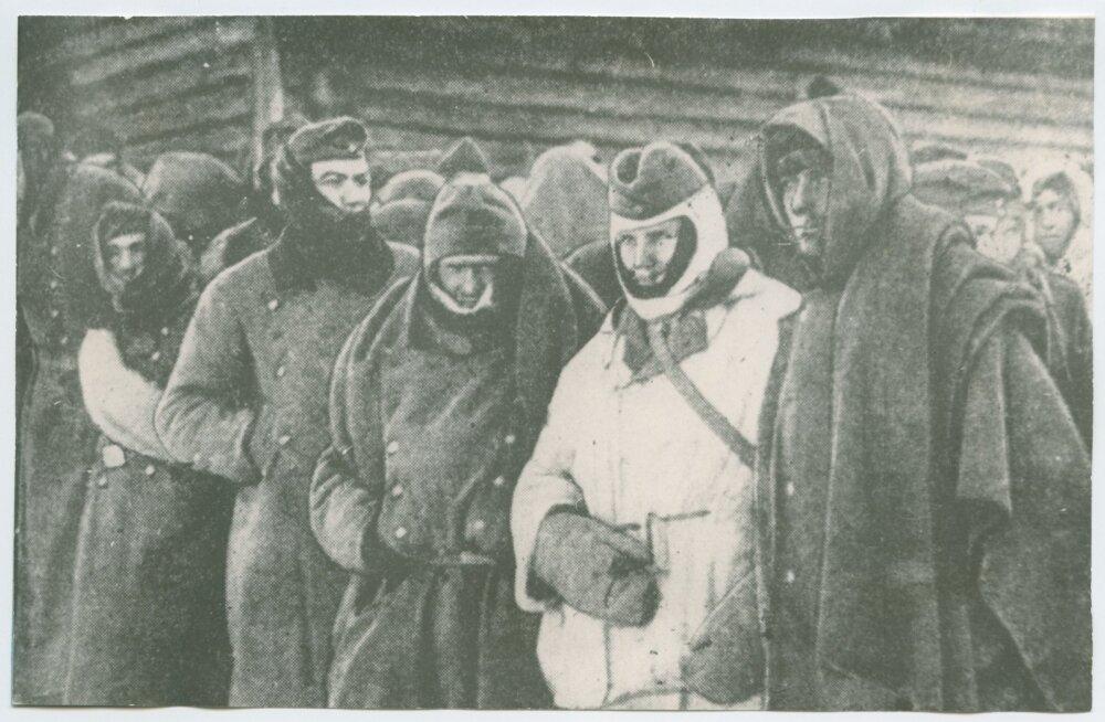 Velikije Luki lahingutes vangivõetud Saksamaa sõdurid ja ohvitserid.