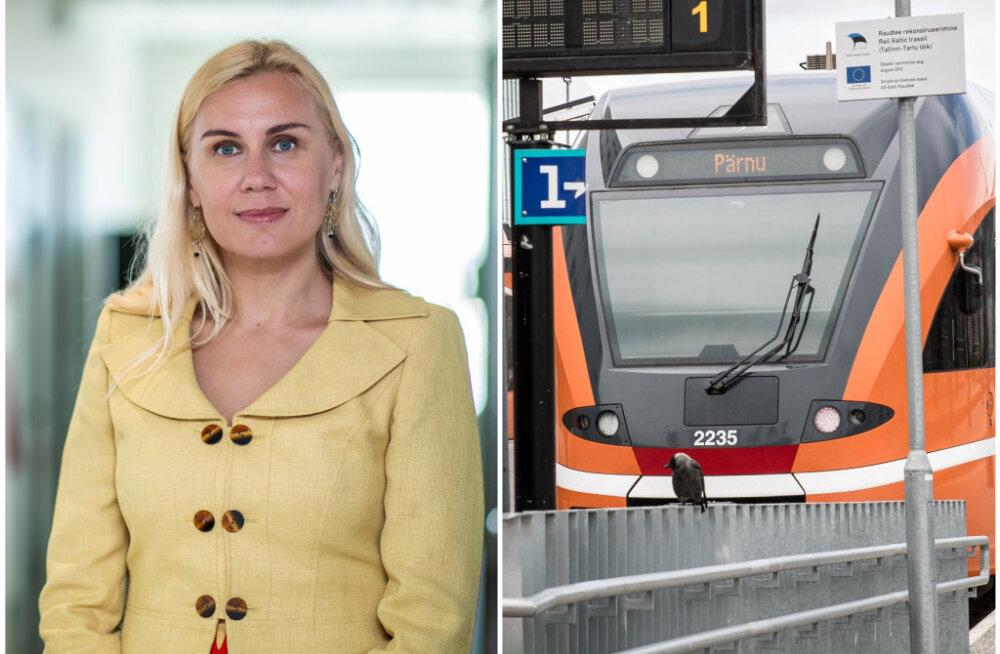 Kadri Simson rongiliini sulgemisest: juba aastal 2026 on rongiühendus Tallinna ja Pärnu vahel 45 minutit