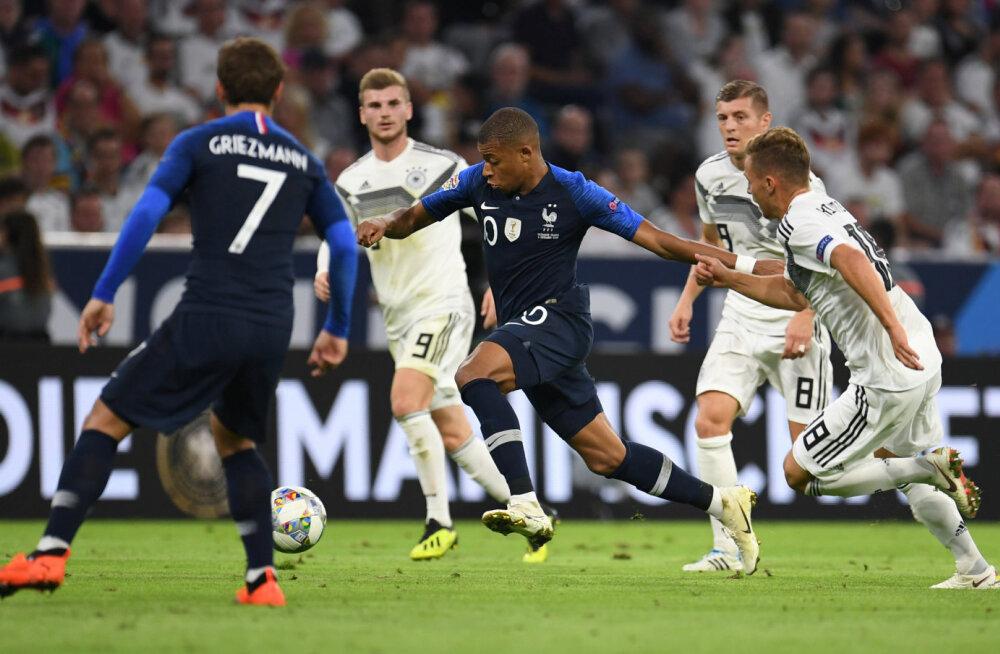 Kylian Mbappe mängus Saksamaaga