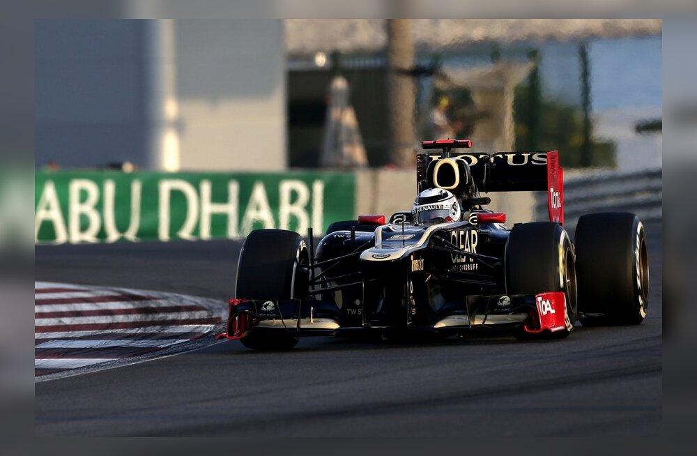 Kimi Räikkönen liikumas Abu Dhabi GP võidu suunas, vormel-1