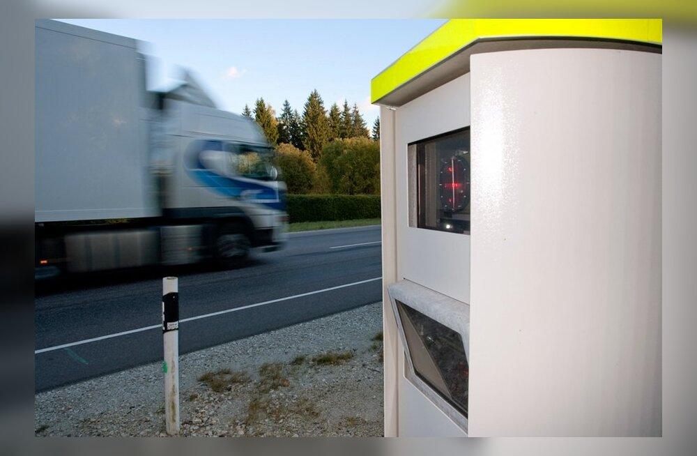 Камеры измерения скорости начнут работать и в Ида-Вирумаа