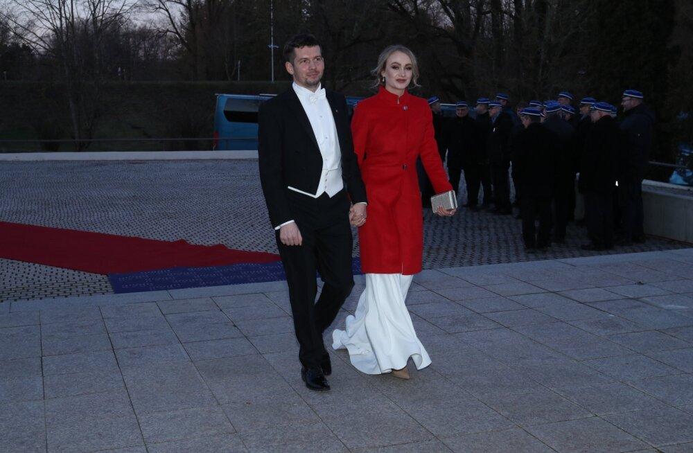 FOTO | Martin Repinski saabus presidendi vastuvõtule koos värske armastatu Katjaga