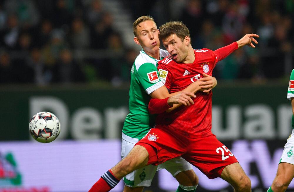 Thomas Müller (Bayern) mängus Bremeniga