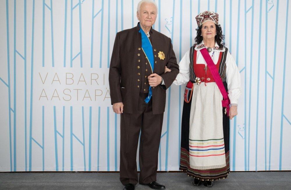President Arnold Rüütel ja  etnoloog pr Ingrid Rüütel