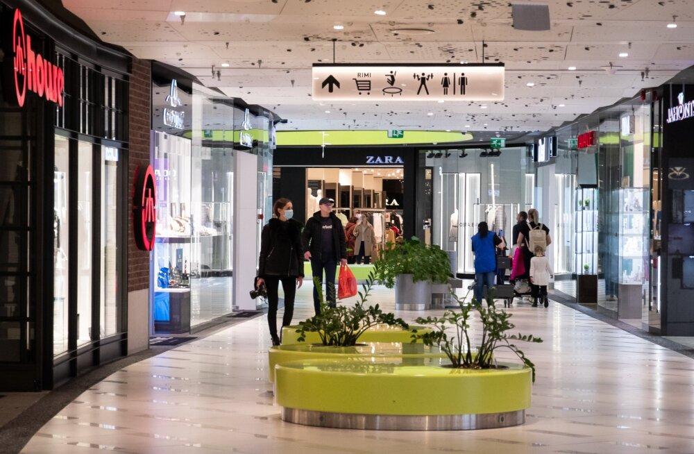 Kaubanduskeskused loodavad ostjate mõistlikule suhtumisele ja teavitavad neid nõuetest nii heli kui ka pildiga.