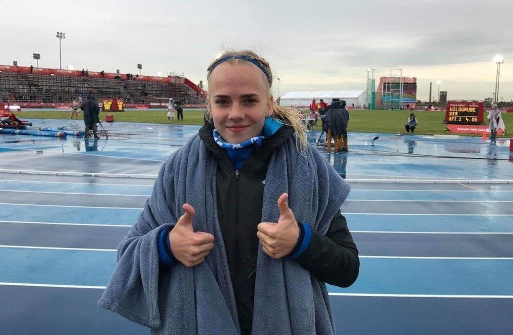 Marleen Mülla vahetult pärast võistlust