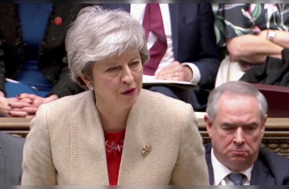 Briti parlament kukutas May Brexiti-leppe lõplikult läbi