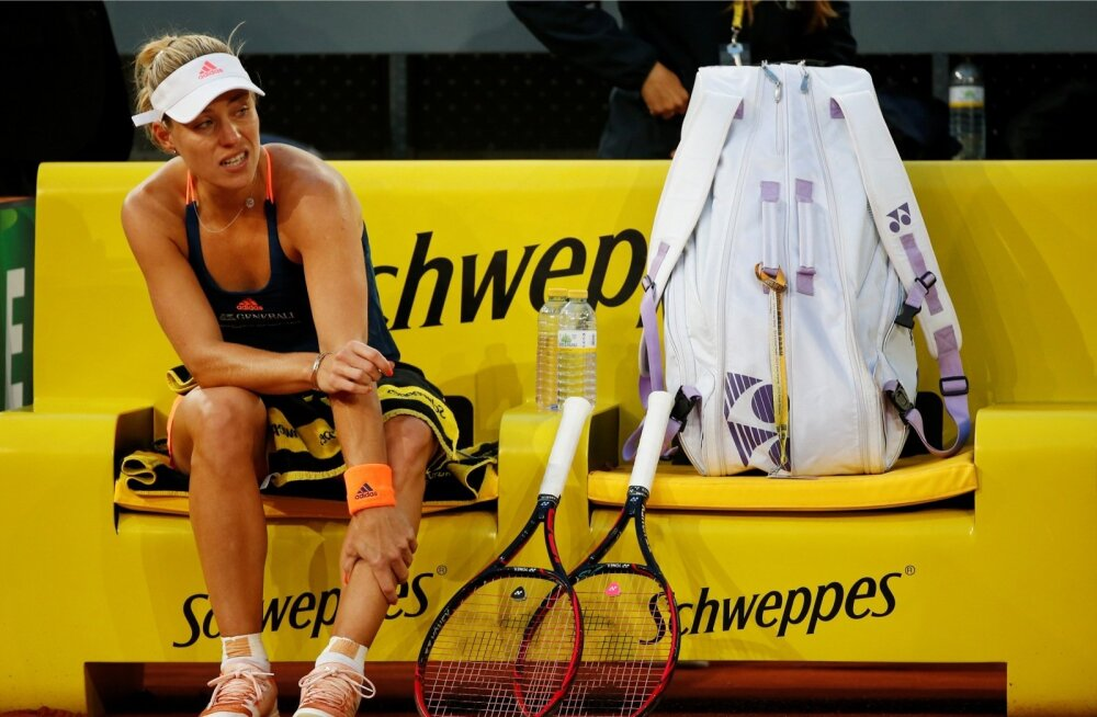 Angelique Kerber oli eelmisel nädalal Madridis kimpus jalavaluga.