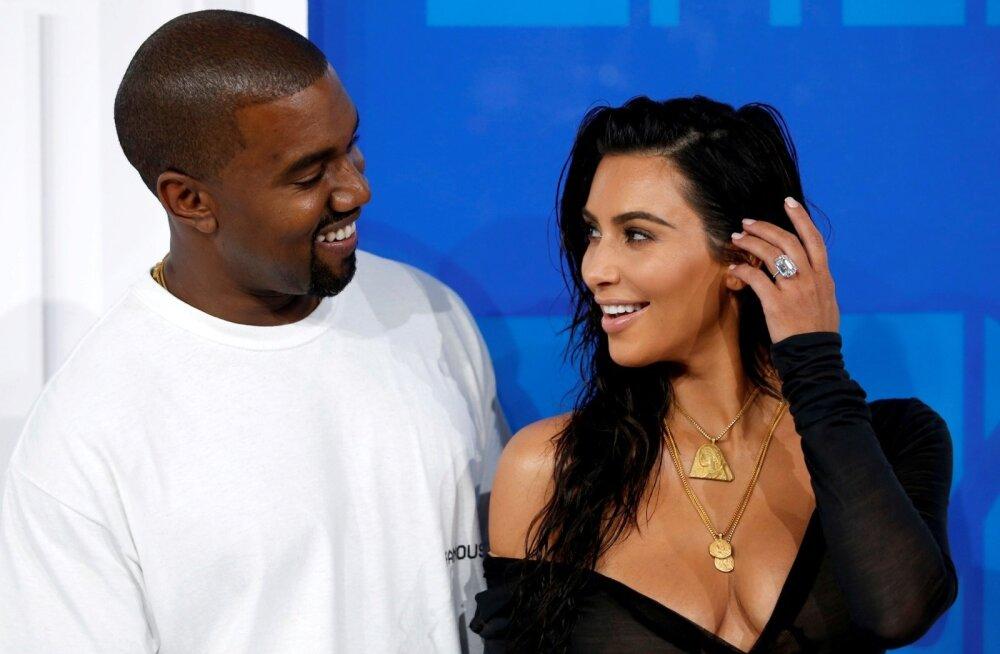 Milline veider kingitus! Kim Kardashian sai Kanye Westilt emadepäevaks kentsaka meene