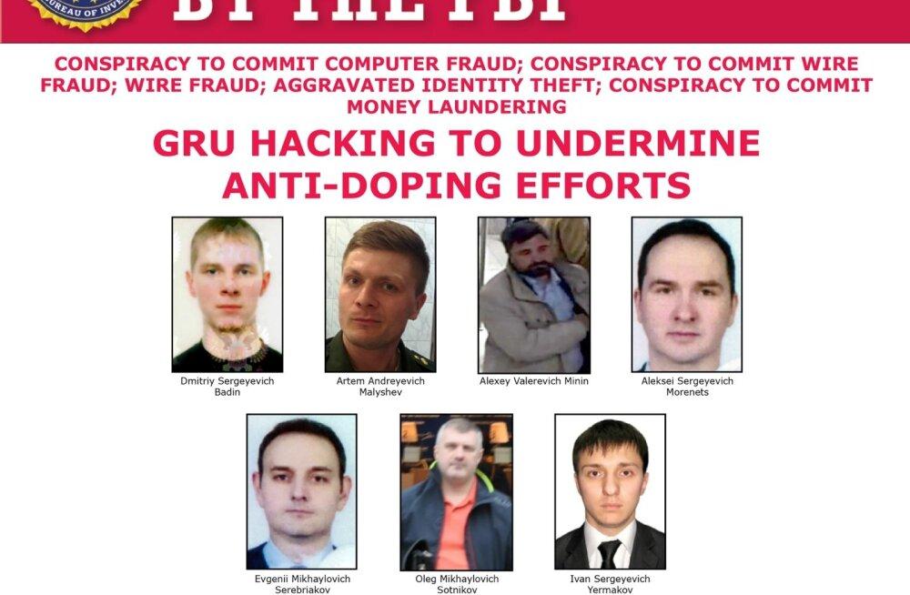 USA esitas seitsmele GRU töötajale süüdistuse küberrünnakutes dopinguküttide, spordiliitude ja sportlaste vastu