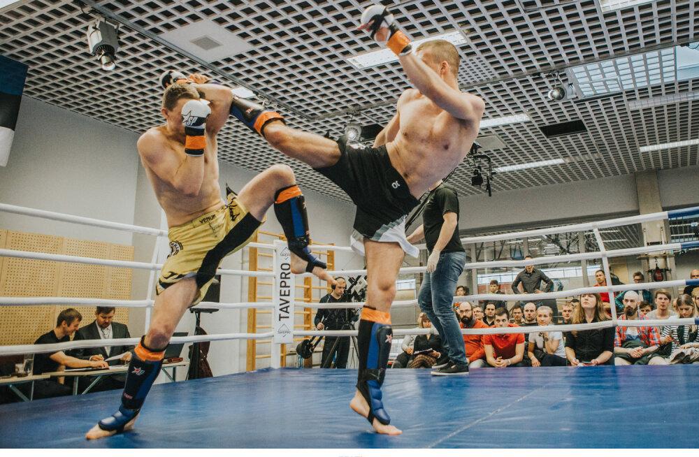 -77,1 kg finaal: Siim ASPERK (vasakul) vs Andre NAEL (aprill 2016).