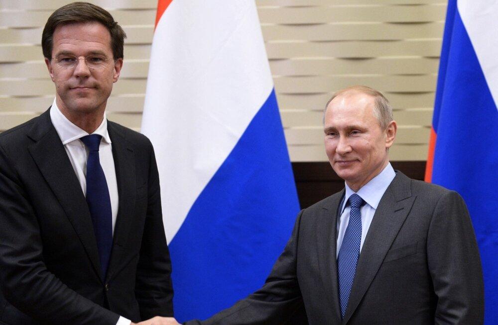 Putin Hollandi peaministrile: Ukraina lennukatastroofi tribunal oleks kontraproduktiivne