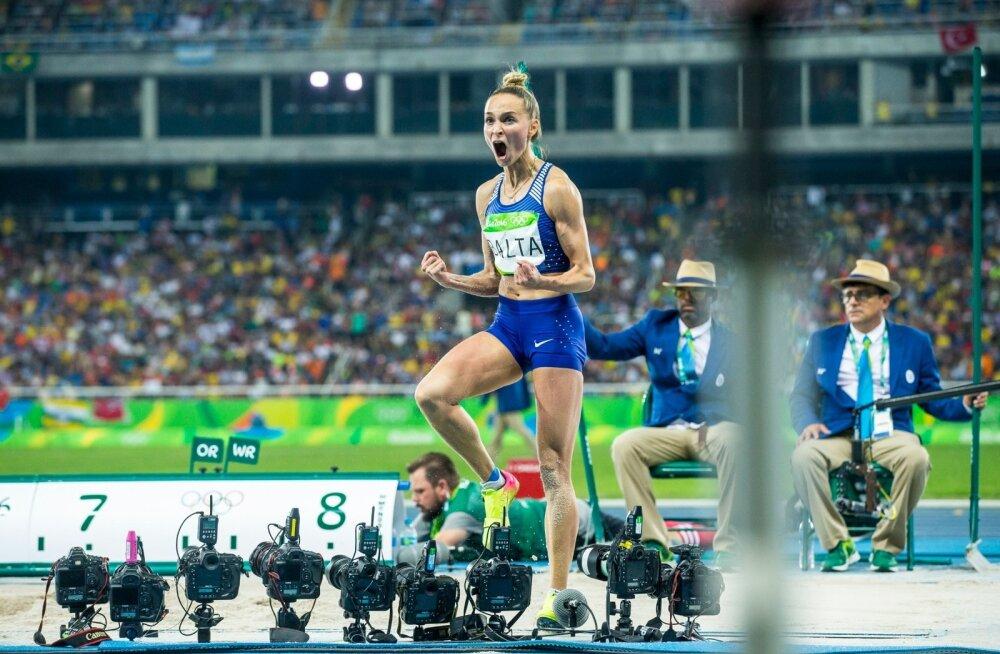 Rio de Janeiro olümpia naiste kaugushüppe finaal