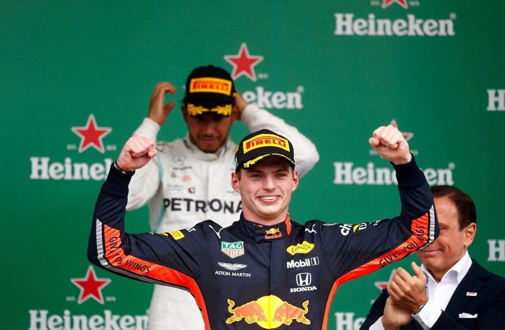 Max Verstappen näitas Brasiilias kõigile koha kätte.