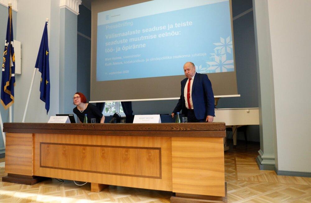 Eelnõu karmistab oluliselt kolmandatest riikidest Eestisse õppima ja tööle tulemist, perekondade kaasatoomine sisuliselt keelatakse