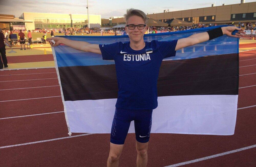 Eesti teivashüppaja võitis uue U-18 rekordi abil EM-il pronksmedali