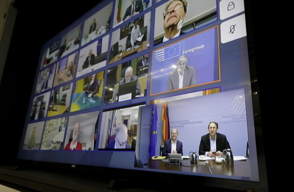Eurogrupi rahandusministrite videokohtumine.