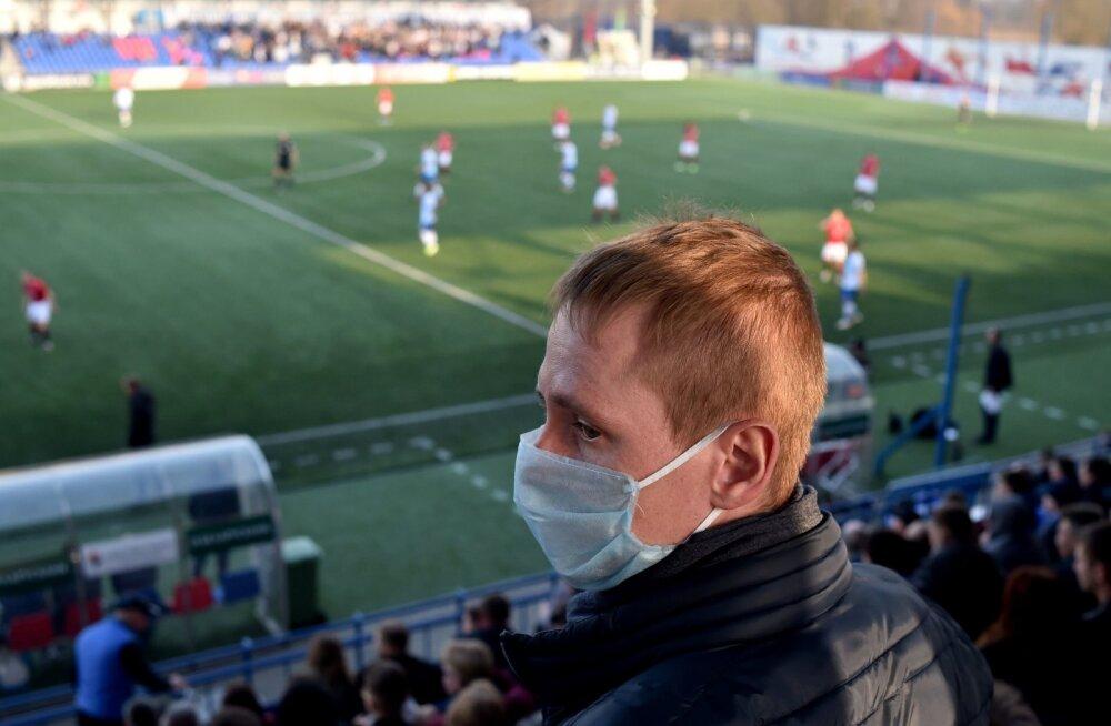 Oma silmaga saavad staadionilt tipptasemel jalgpalli vaadata veel üksnes valgevenelased.
