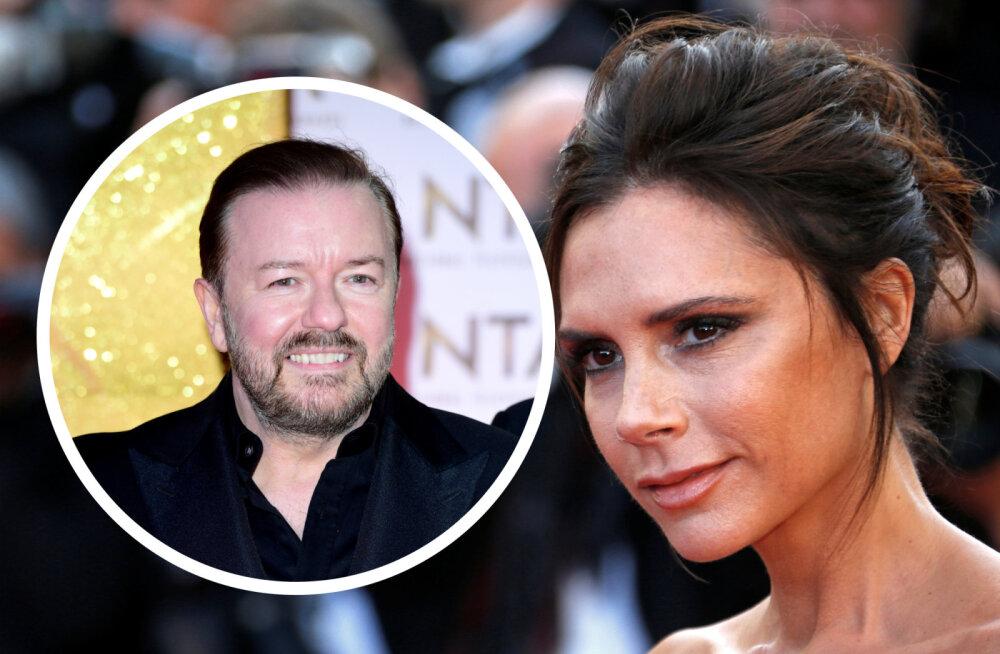 Ricky Gervais on Beckhamitega tülli keeramas: Victoria Beckham ei taha eriolukorras töötajatele palka maksta