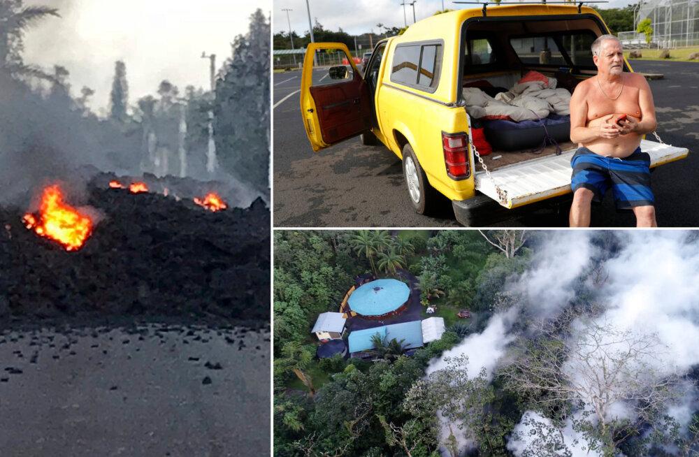 FOTOD ja VIDEO | Hawaiil tuli tuhandetel inimestel evakueeruda tänavatest välja purskuva laava ja mürgise õhu eest