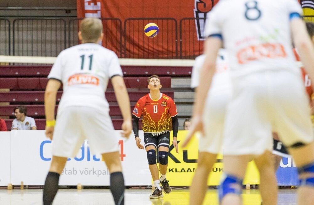Võrkpalli Balti liiga (Credit24 Meistriliiga), Tallinna Selver ja Pärnu Võrkpalliklubi.