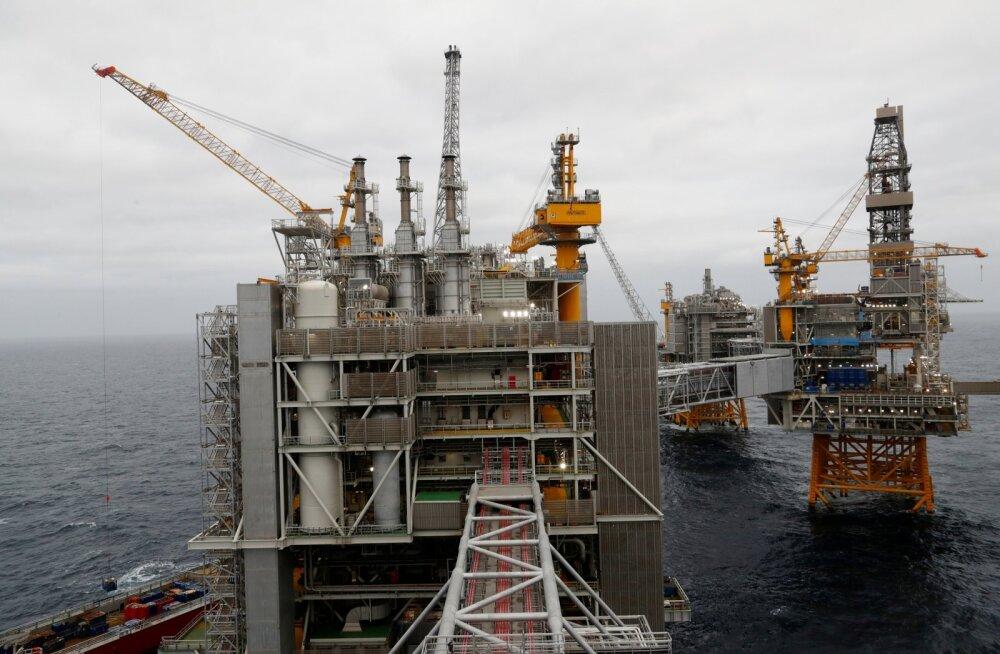 Naftaplatvormid Põhjamerel.
