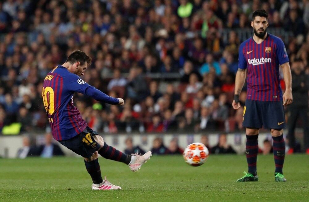 Lionel Messi surmav vasak jalg vormistas 82. minutil 30 meetri karistuslöögist Barcelona 3 : 0 võidu.