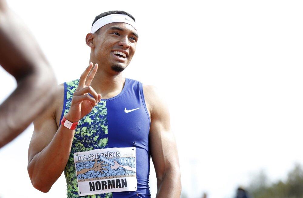 USA sprinter avas hooaja ülivõimsa tulemusega. Kas maailmarekord on suvel ohus?