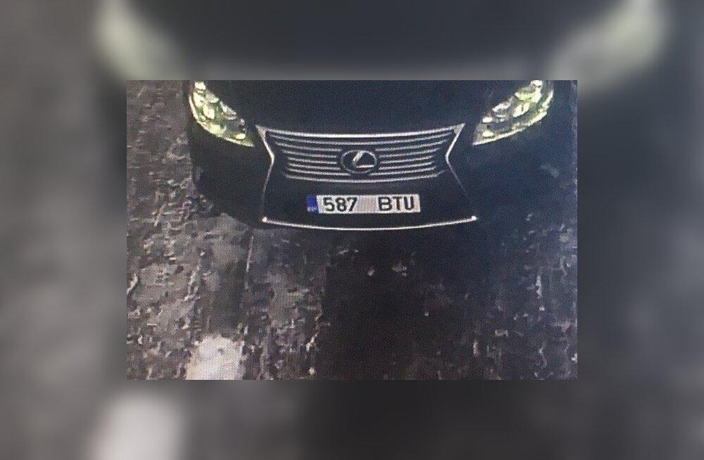 ФОТО: Масштабная операция по поиску угнанного в Таллинне Lexus прошла успешно: авто задержали в Тартумаа