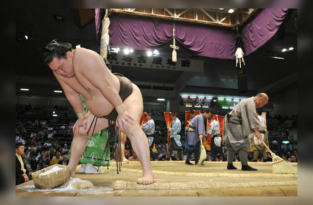 Hakuho matšiks valmistumas, yokozuna, sumo