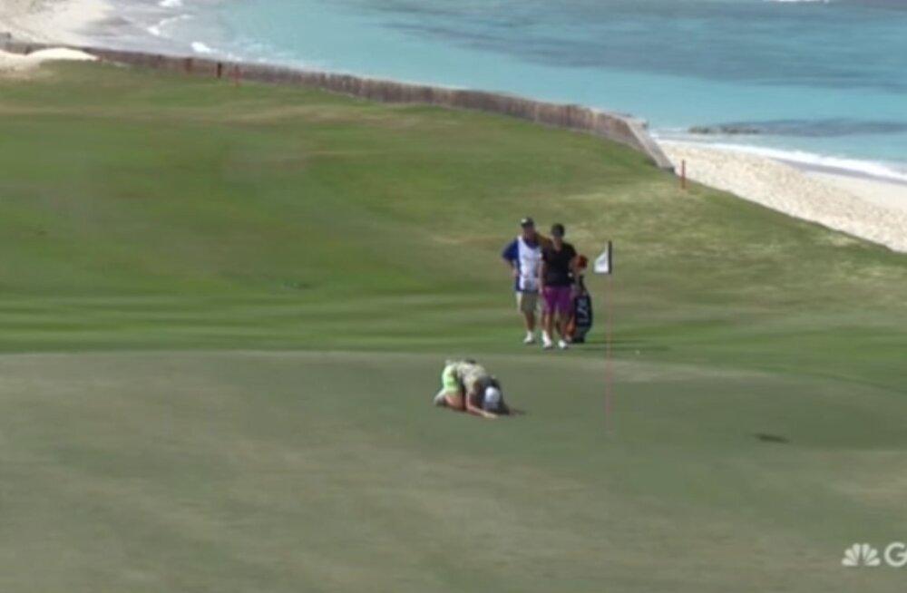 VIDEO: Naisgolfar lõi 200 meetri kauguselt oivalise <em>hole-in-one</em>'i