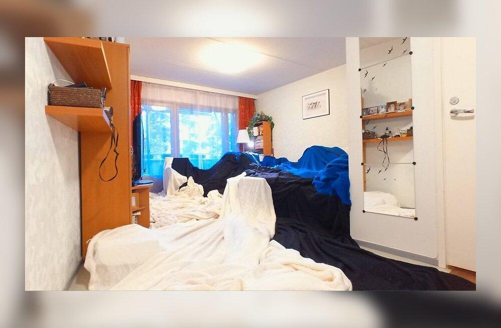 ФОТО: Мужчина связал эстонский флаг в 160 квадратных метров