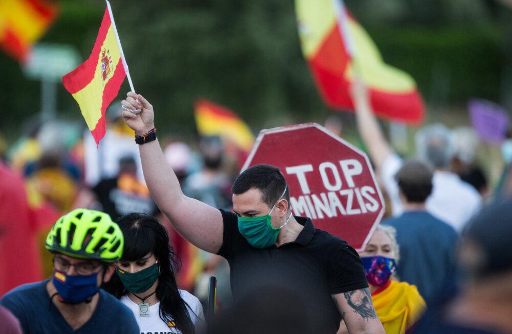 Протесты в Испании на фоне коронавируса