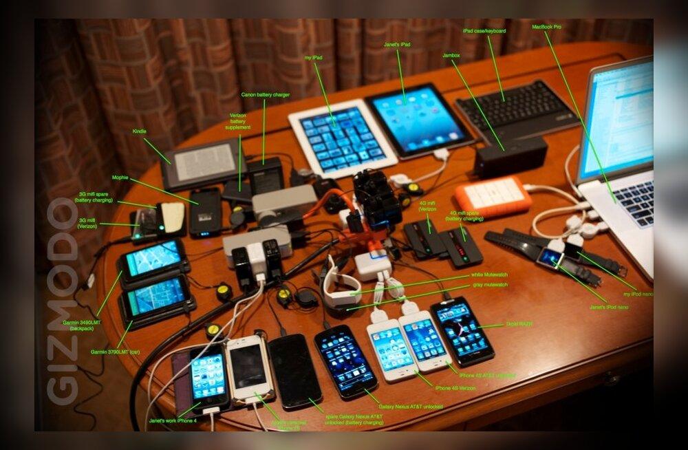 Kui palju tehnikat võiks pidevalt kaasas kanda? (Wozniaki näitel: palju!)