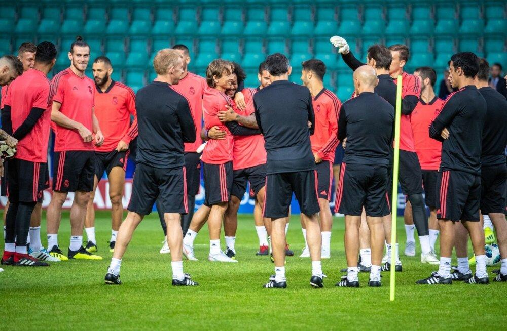 Real Madridi treening Lilleküla staadionil