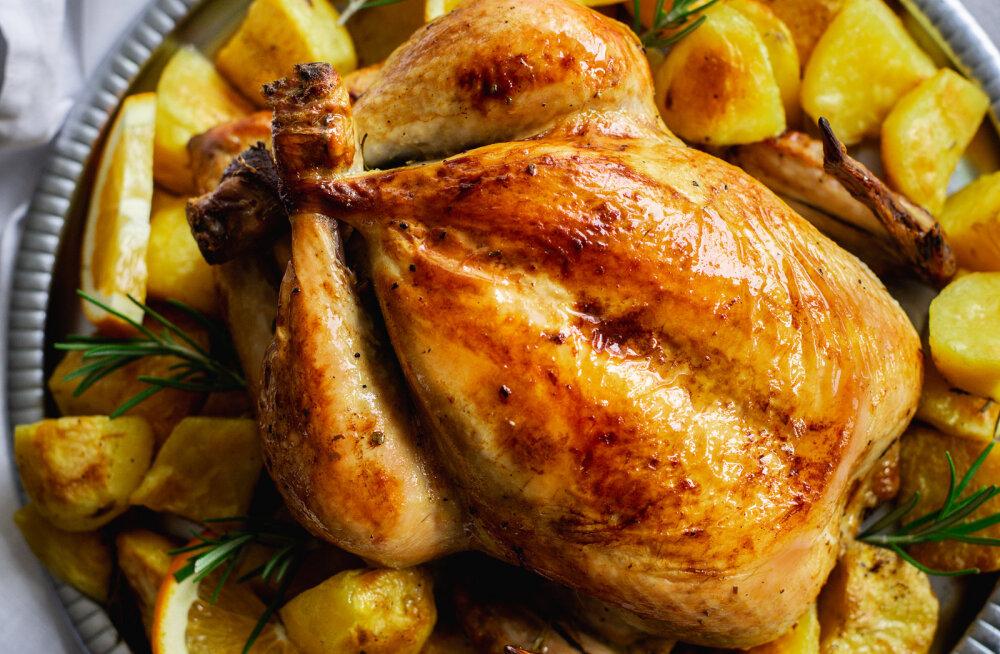 RETSEPT | Personaaltreener soovitus pikkade pühade lõppu: apelsini ja rosmariinimarinaadis ahjukana kartulite ja jõhvikakastmega