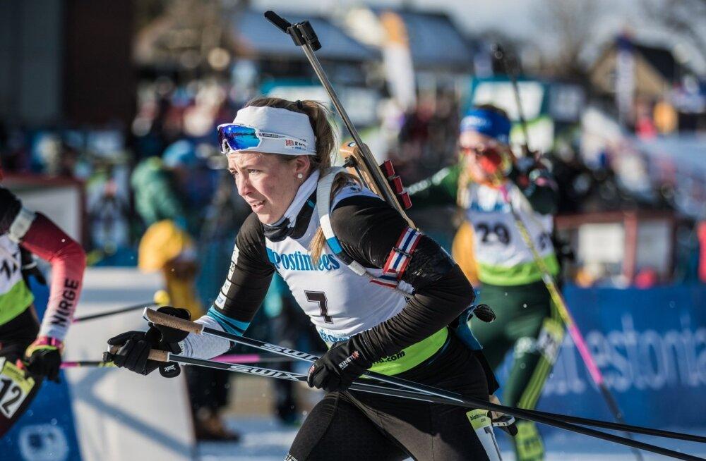 Johanna Talihärm oli naiste sprindi 20. kohaga laskesuusatamise MM-il eestlastest parim.