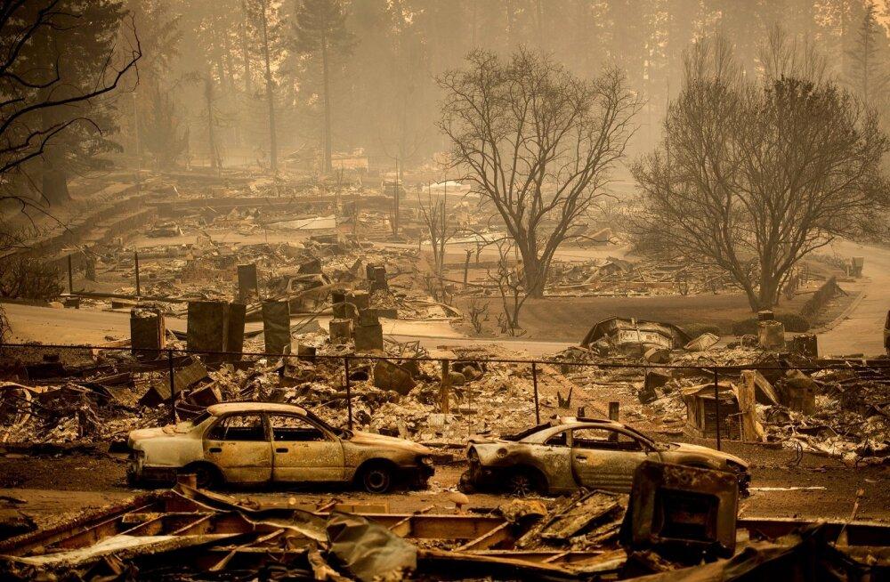 FOTOD | California põlengutes hukkunute arv kasvas 44-ni, sadakond inimest on endiselt kadunud