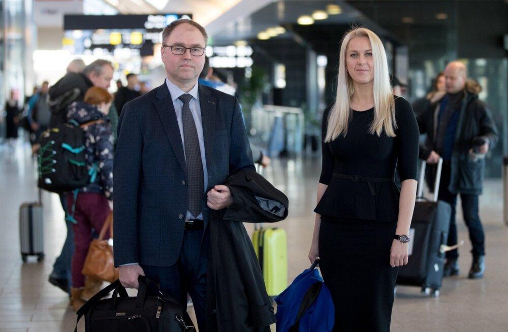 SmartLynxi esindajad Sigurdur Hrafn Gislason (vasakul) ja Mara Steinberga kinnitasid, et reisijate turvalisus on nende jaoks kõige olulisem ning igat olukorda analüüsitakse täie tõsidusega.