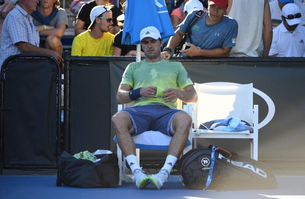 Vaid 48 minutiks Australian Openile tulnud sakslane sai hiiglasliku rahatrahvi