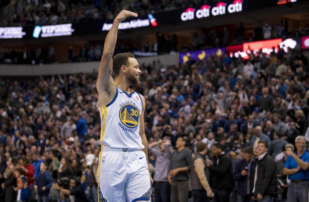 VIDEO | Curry võiduvise alistas Nowitzki ja Dallase, Cleveland jäi alla Bostonile