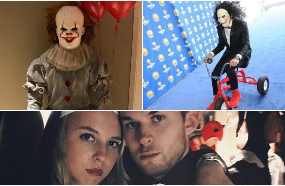 FOTOD | Sporditähed ja Halloween: Kontaveit riietus nunnaks, LeBron Jamesi ja Stephen Curry kostüümid ajasid hirmu nahka