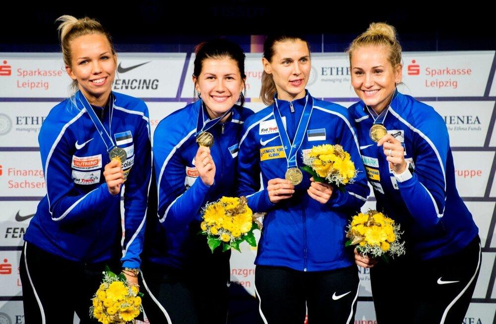 Erika Kirpu, Julia Beljajeva, Irina Embrich ja Kristina Kuusk