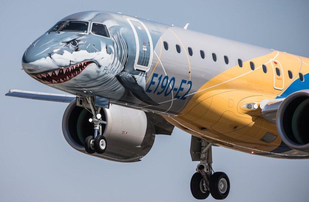 FOTOD ja VIDEO: Ka Nordica poolt kasutatud lennukivalmistaja uus lennuk, millest kõik räägivad