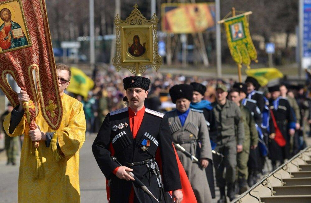 Monarhism on jälle moes. Nikolai II ikoonile pühendatud protsessioon Stavropolis