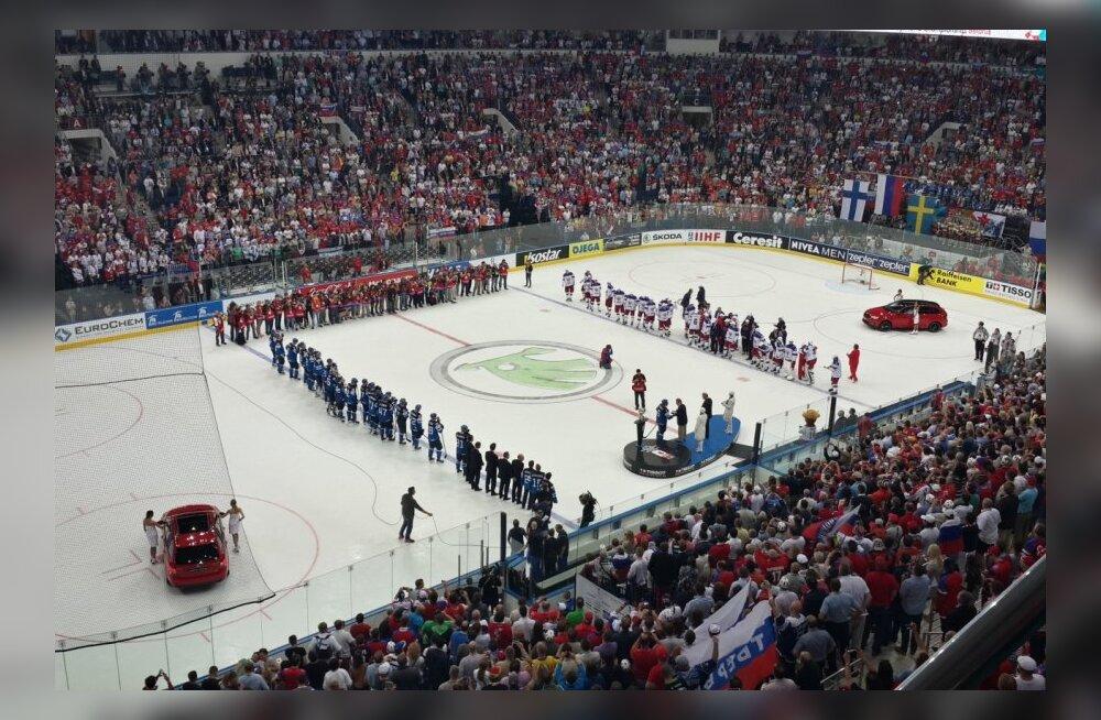 ФОТО читателя Delfi: Владимир Путин и эстонские болельщики приехали на финал чемпионата мира по хоккею