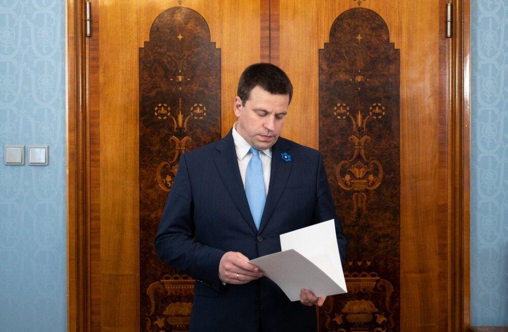 Keskerakonna esimees, peaminister Jüri Ratas