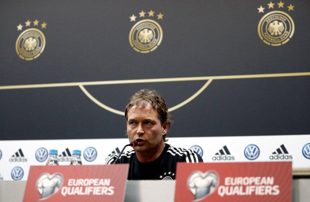 DELFI SAKSAMAAL | Saksamaa koondise ajutine peatreener: Eesti mängis Ungariga 3:3 viiki - teame, et peame nende alistamiseks kõvasti higi valama