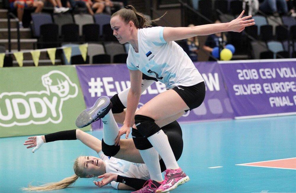 Eesti võrkpallinaiskond sai Albaanialt korralikult sugeda ja lõpetas Hõbeliiga neljanda kohaga